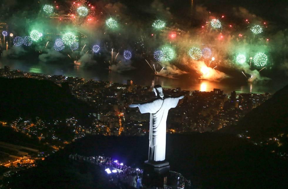 Celebración del Año Nuevo en Rio de Janeiro (Brasil).
