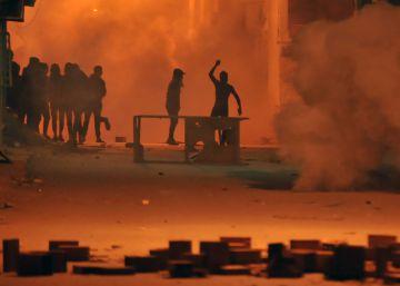 Protestas contra la política de austeridad del Gobierno en Túnez