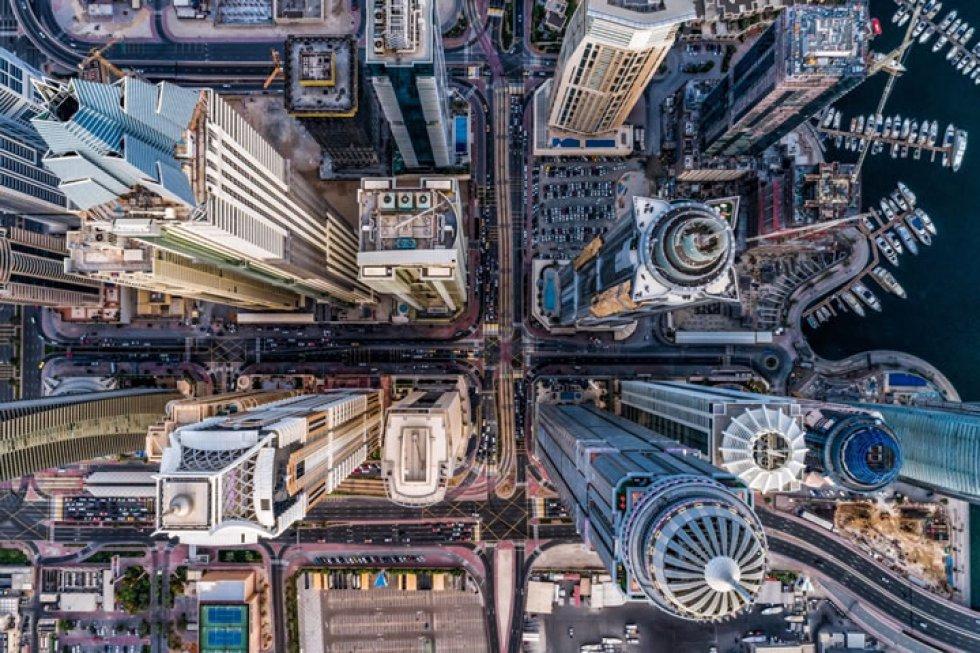 'Concrete Jungle': vista aérea de Dubai.