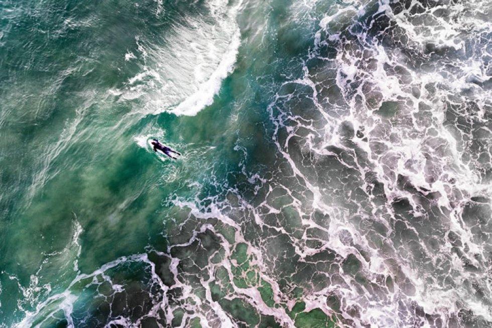 Un surfero portugués.