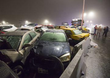 Accidentados 40 vehículos en un accidente en México