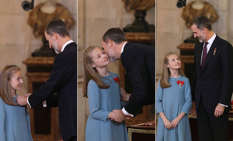 Secuencia de la imposición a la princesa de Asturias del Toisón de Oro.