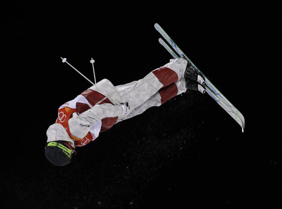 Marc-Antoine Gagnon, do Canadá, durante a final de esqui estilo livre em Pyeongchang.
