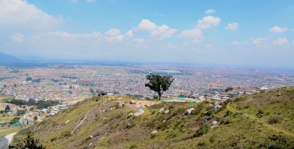 Vista de Bogotá desde una de las partes más altas de Soacha.rn