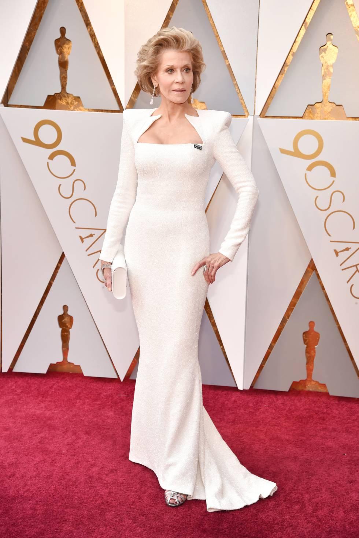 Vestido Blanco Oscar 2018 Elegantes Vestidos De Noche
