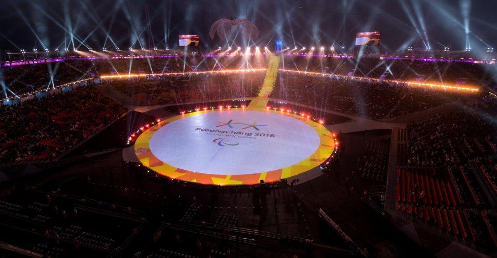 Ceremonia de apertura de los Juegos Paralímpicos de Pyeongchang 2018, el 9 de marzo de 2018.