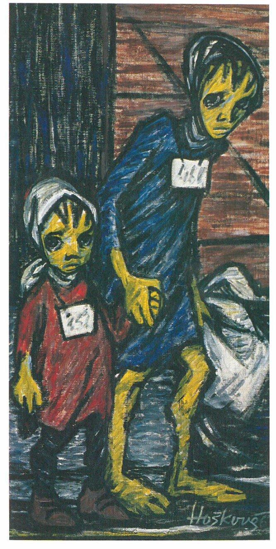 Los dibujos de Helga Weissová pueden admirarse en el Centro Sefarad de Madrid.