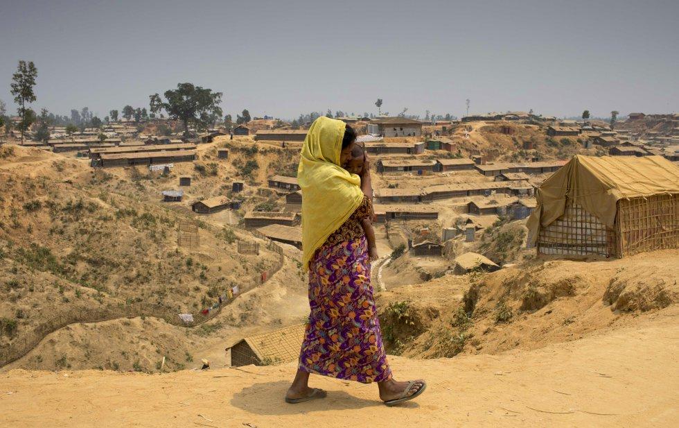 Una rohinyá en el campo de Kutupalong (Bangladés).