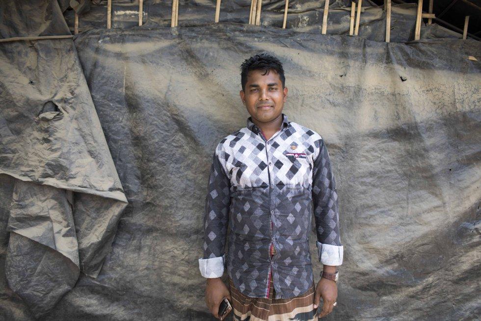 Uno de los acogidos en los campos de refugiados de rohinyás de Bangladés.