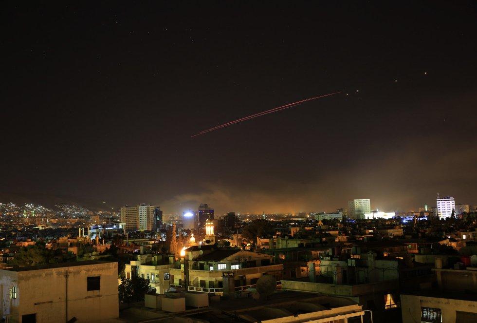 El segundo objetivo de Estados Unidos y sus aliados europeos fue un deposito de armas químicas ubicado al oeste de Homs