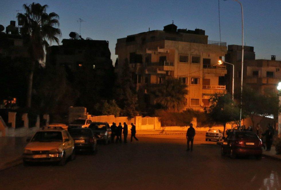 Imágenes de los alrededores de la mezquita de Damasco.