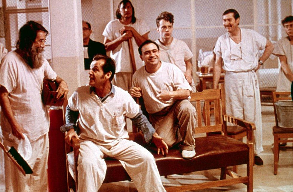 Jack Nicholson, en un escena de la película 'Alguien voló sobre el nido del cuco', del director checo Milos Forman.