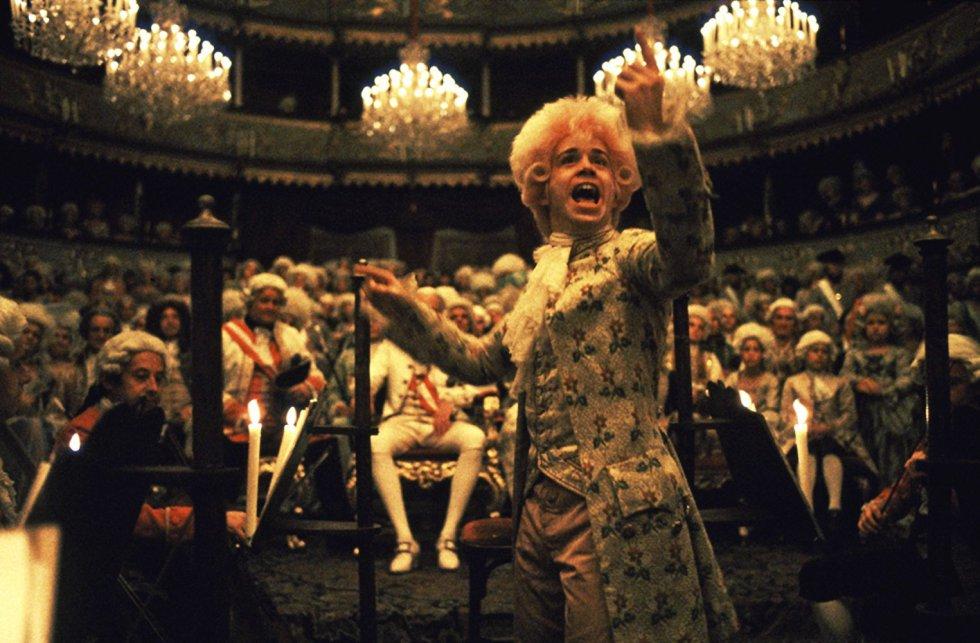 Tom Hulce, en un fotograma de la película 'Amadeus'.