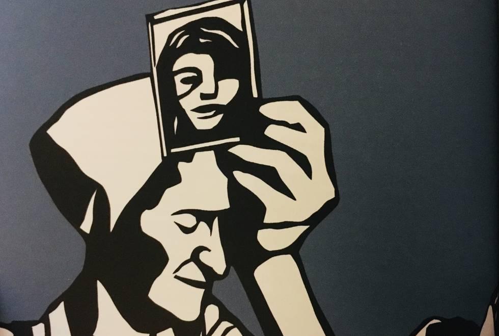 """Entre Policarpa y Bastardilla hay más de dos siglos de diferencia en un mismo país, Colombia. La primera, Policarpa Salavarrieta,  La Pola , pasó a la historia como una heroína de la independencia de Colombia, a principios del siglo XIX, se encargaba de conseguir dinero, pasar información y estar atenta a nuevos talentos para la revolución. Acabó en el patíbulo el 14 de noviembre de 1817, hoy ese es el Día de la Mujer Colombiana y su efigie está en sellos y monedas. Bastardilla, la segunda, vive hoy en Bogotá, y no se sabe su nombre real pero sus enormes murales están en ciudades de todo el mundo; esta artista urbana se niega a dar su nombre porque quiere centrar la atención en su obra. La elegida para ilustrar  Mujeres radicales del mundo  es una de sus pinturas más conocidas y con más fuerza, una indígena que sujeta el tejado de una casa mientras lleva dos bebés colgados y, cuenta la autora del libro, Bastardilla recuerda así que las mujeres cargan con el peso del mundo y, además, con la promesa del futuro. Ellas son solo dos de las más de 40 mujeres que aparecen en un libro que comienza con un """"¿de dónde y sobre quién quieres aprender?""""."""