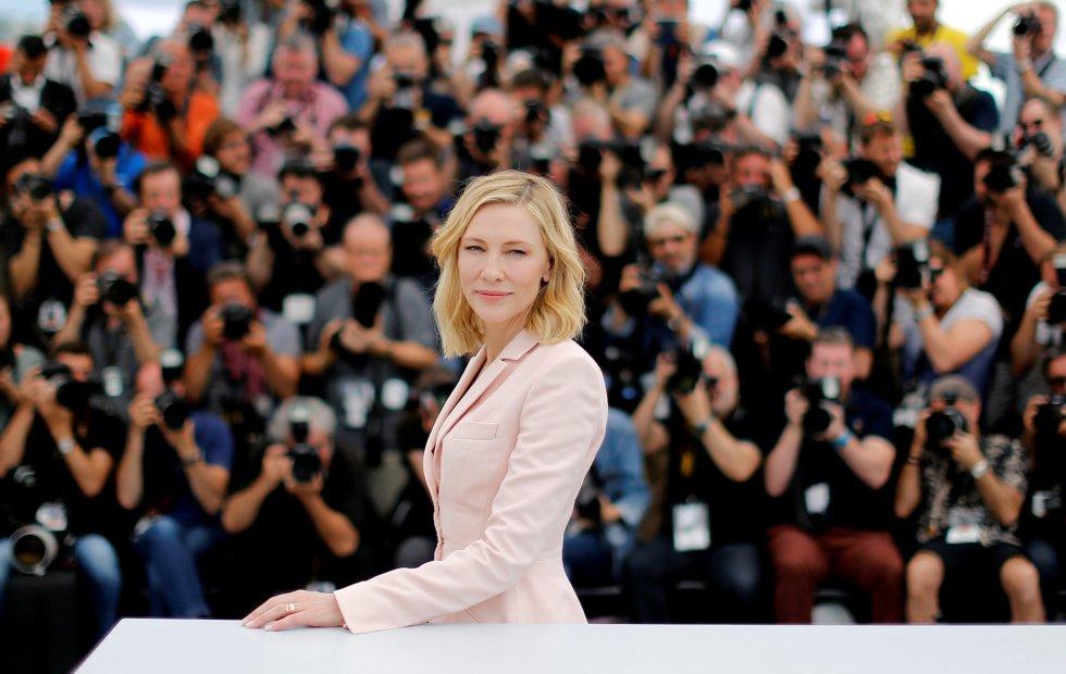 Cate Blanchett, la presidenta del jurado y actriz, posa para los medios, el 8 de mayo de 2018.