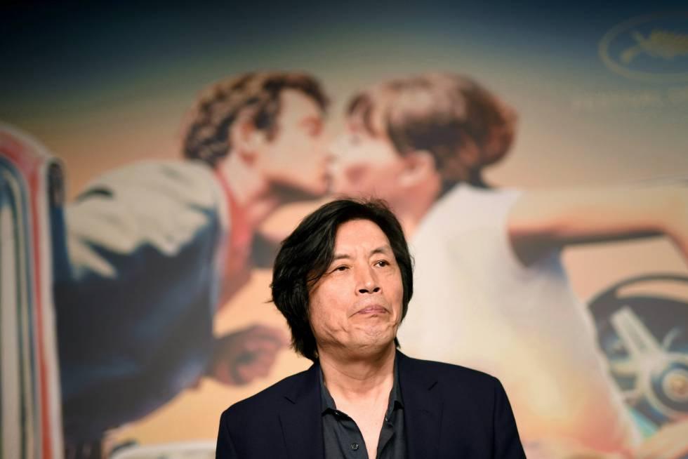 El director de cine Chang-dong Lee durante la presentación de la película 'Burning', el 17 de Mayo 2018.