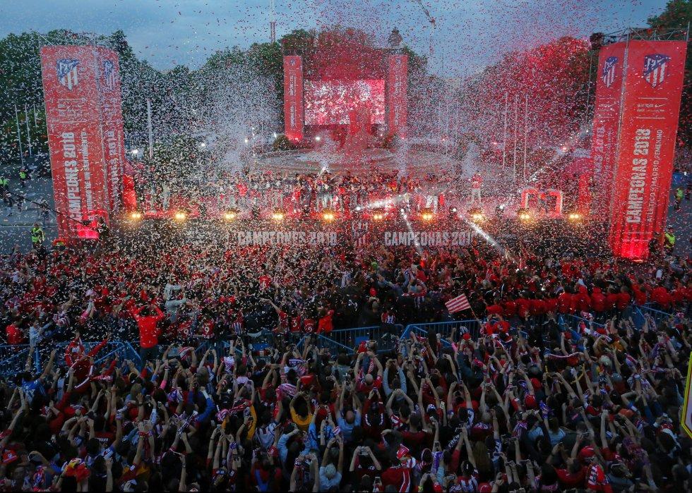 Fotos Las Celebraciones Del Atletico De Madrid Tras Ganar La Europa