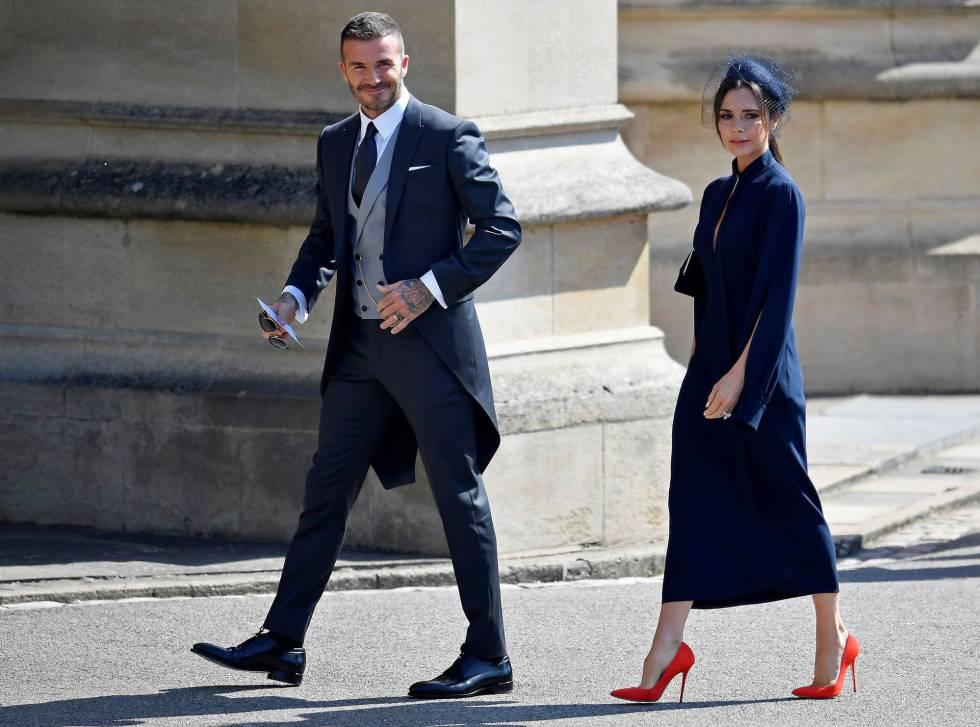 Victoria y David Beckham acaban de llegar al palacio de Windsor.