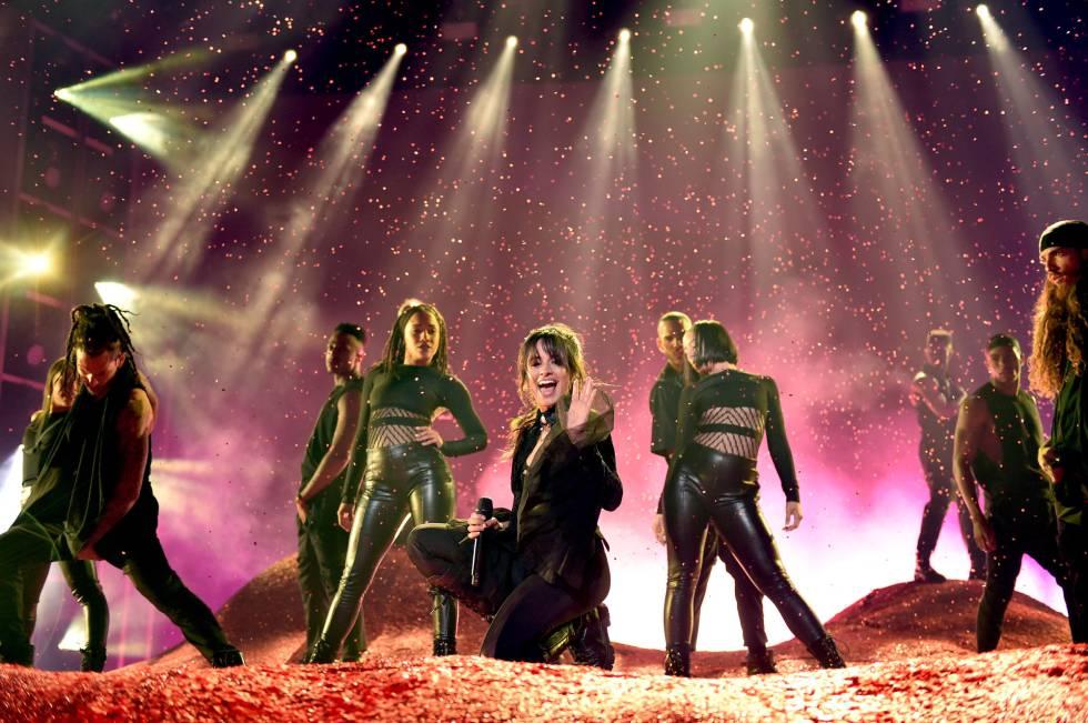 La artsta Camila Cabello durante su actuación en los Billboard celebrado en Las Vegas, Nevada.