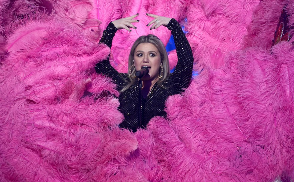 Kelly Clarkson durante los Billboard.