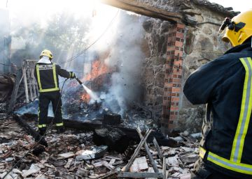 Las imágenes de la explosión en un almacén de pirotecnia en Tui