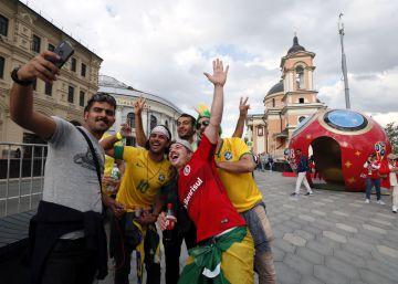 Ambiente antes de la ceremonia inaugural del Mundial de fútbol 2018, en imágenes