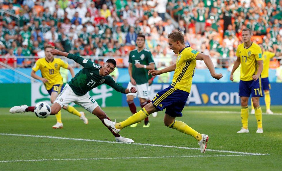 El gol de Ludwig Augustinsson a Suecia.