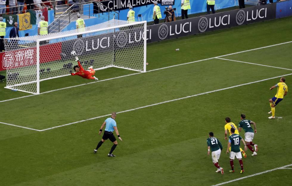 El gol de Andreas Granqvist a México.