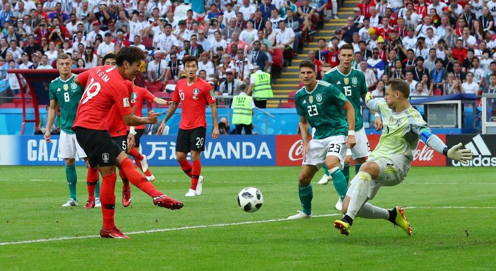 El gol de Kim Young-gwon a Alemania.