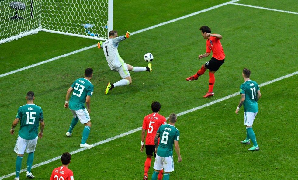 El gol de Kim Young-gwon que desempata el marcador con Alemania.