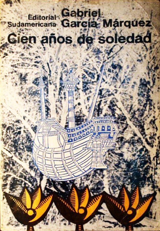 Imagen de un ejemplar de la primera edición de 'Cien años de soledad', de Gabriel García Márquez, publicada por la Editorial Sudamericana en Buenos Aires, en 1967. La exposición se celebra del 2 al 26 de julio y entre sus actos incluirá un diálogo con Dolly Onetti, viuda del escritor.