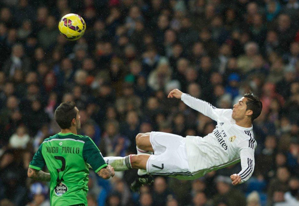 Cristiano Ronaldo en un encuentro frente al Celta de Vigo, el 6 de diciembre de 2014.