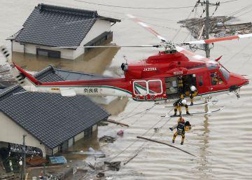 Las inundaciones en Japón, en imágenes