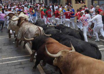 Cuarto encierro de San Fermín, en imágenes