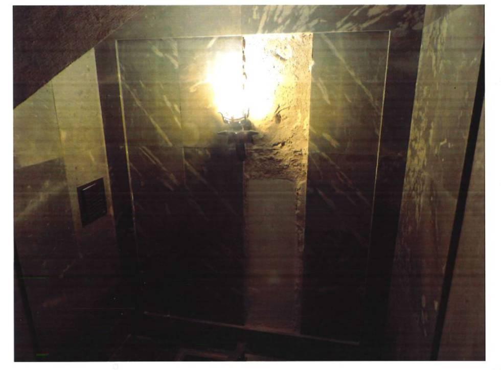 Uno de los posibles accesos al sepulcro
