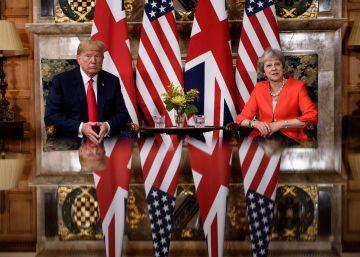 La visita de Donald Trump a Reino Unido, en imágenes