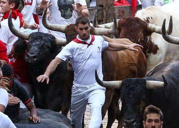 Último encierro de San Fermín, en imágenes