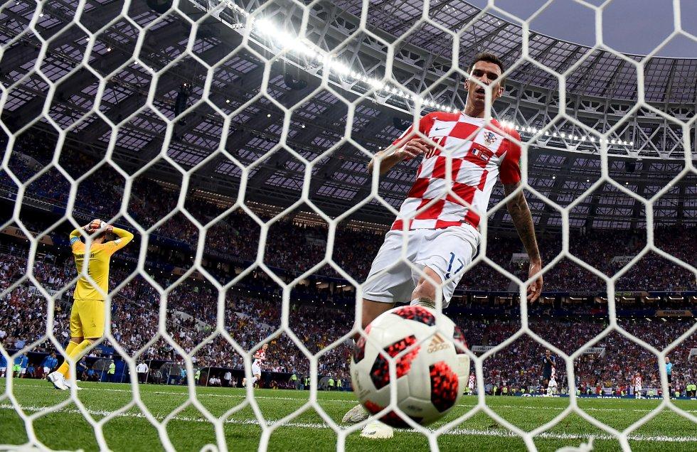 Mario Mandzukic, tras marcar el segundo gol de Croacia ante Francia.