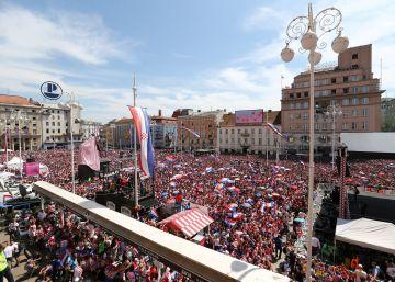 El recibimiento de Croacia a su selección, en imágenes