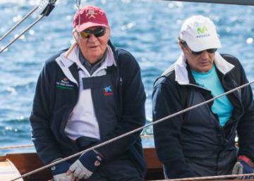 El rey Juan Carlos, sin viento en Sanxenxo