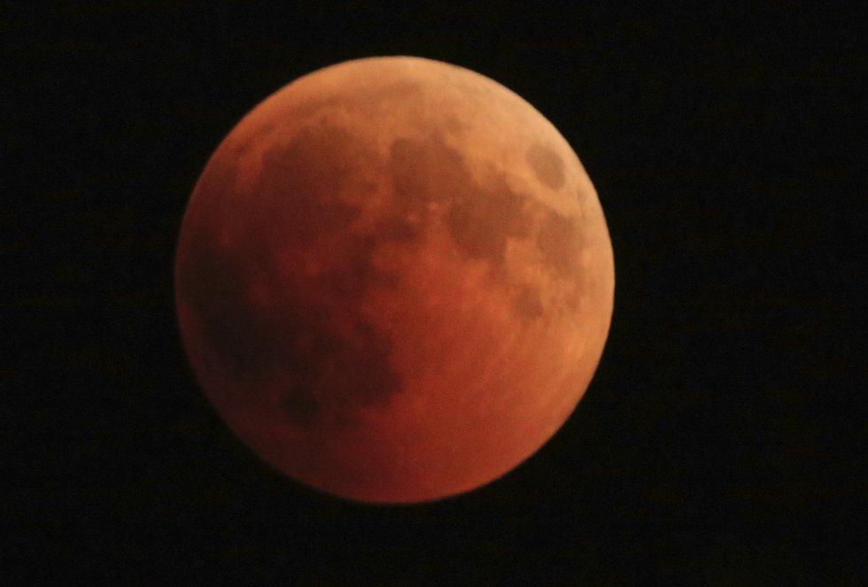 Así se ve el eclipse desde Israel.