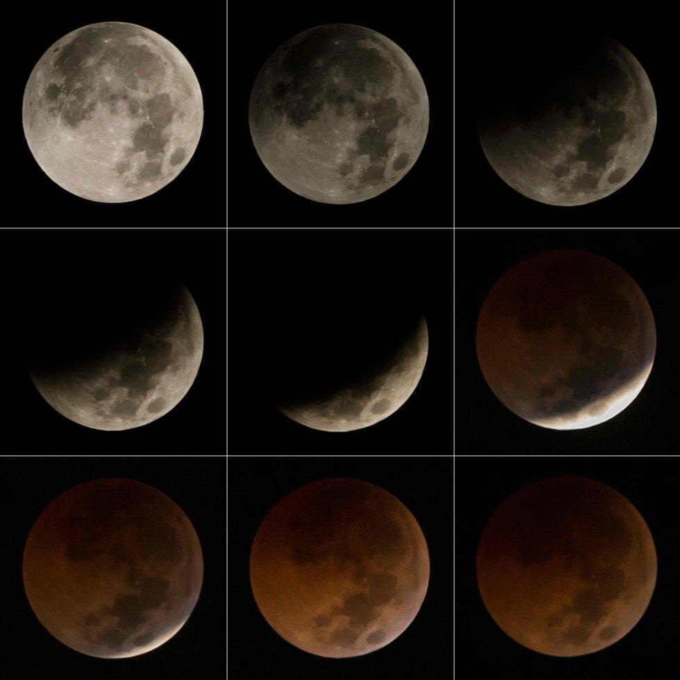 Secuencia del eclipse sobre Yakarta.