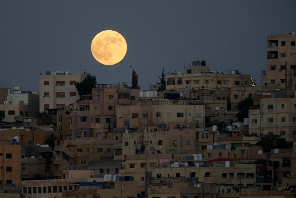 El eclipse sobre Amán, Jordania.