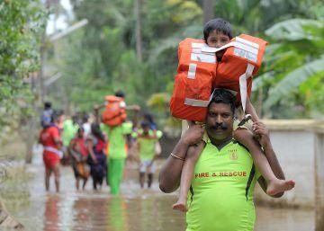 Las inundaciones en India, en imágenes