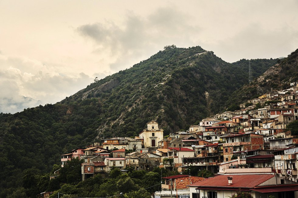 Panorama de San Luca (Calábria), origem do 'Ndrangheta