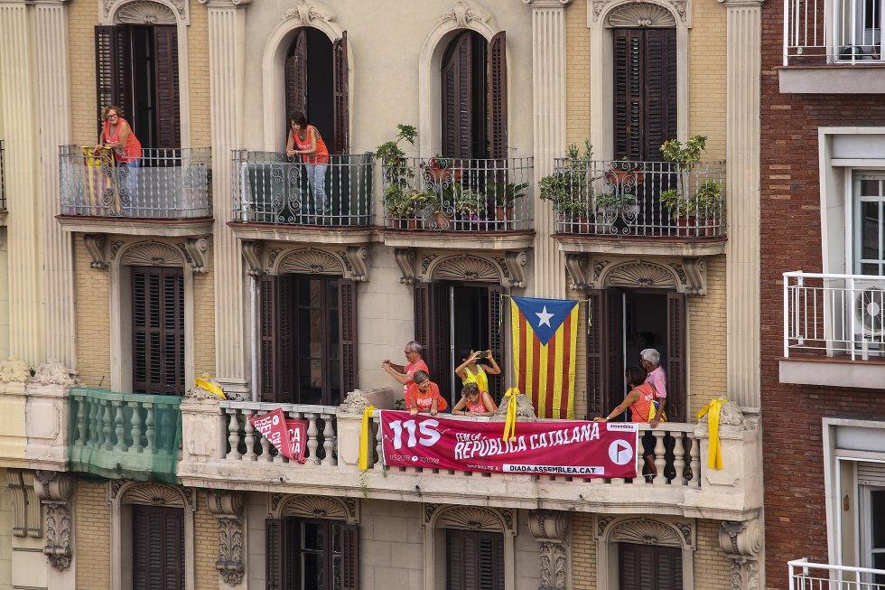Vista de uno de los balcones próximos a la avenida de la Diagonal.
