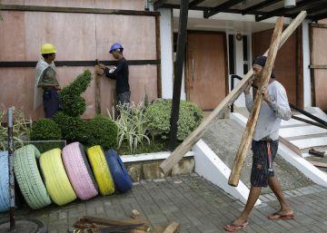 Filipinas se prepara para la llegada del tifón Mangkhut, en imágenes