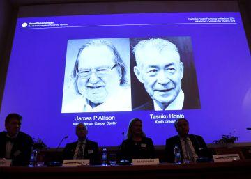 Los ?padres? de la inmunoterapia ganan el Nobel de Medicina 2018