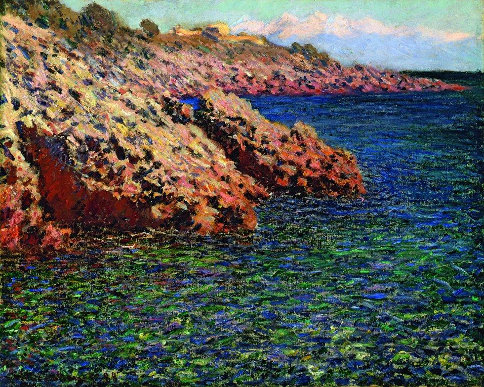 'El Mediterráneo (cabo de Antibes)', 1888, de Claude Monet.