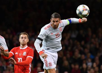 Gales - España, en imágenes